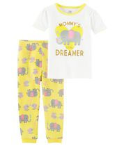Ens. pyjama 2-pièces Child of Mine made by Carter's pour fillettes – Éléphant 4T