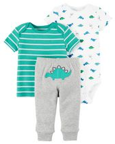 Child of Mine made by Carter's Newborn Boys' 3-piece Dino Set 24M