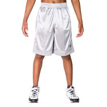 AND1 Men's All Court Basketball Shorts Cement Large