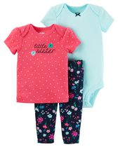 Child of Mine made by Carter's Newborn Girls' 3-piece Set - Sister 18M