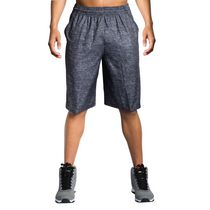 AND1 Men's Post Game Woven Polyester Basketball Shorts Ebony Medium