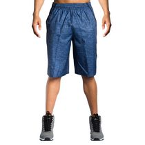 AND1 Men's Post Game Woven Polyester Basketball Shorts Navy X-Large