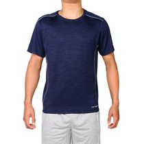 AND1 Men's Go to Performance Polyester Basketball Top Navy Heather Large