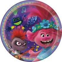 8 Trolls World Tour 7`` Plates