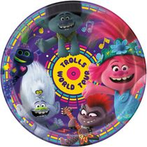 8 Trolls World Tour 9`` Plates