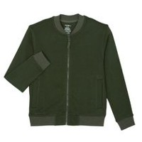 George Boys' Sweater Bomber Jacket Green M