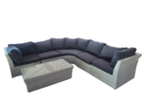 Henryka Ltd PVC Wicker L Shaped Sofa Set