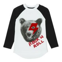 George Boys' Cotton Raglan Tee M