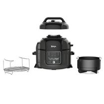 Ninja OP300C, Foodi 6.5-Quart Pressure Cooker & Air Fryer with TenderCrisp Technology, Black/Gray, 1460W