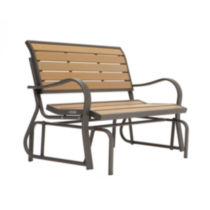Lifetime Faux Wood Glider Bench