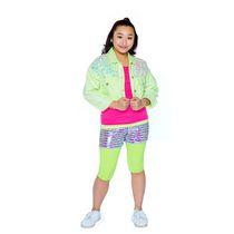 Girls Mini Pop Kids Neon Lime Denim Jacket