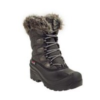 Ice Fields Women's 20PUFFBW17 Puff Black Lace Up Winter Boots 8