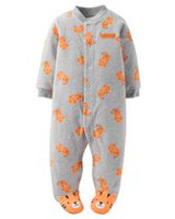 Child of Mine made by Carter's NB Boy's Sleep n Play Tiger Body Suit 0-3