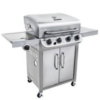 Char-Broil Stainless Steel 4-Burner Barbecue with Cabinet