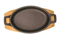 Starfrit Cast Iron Au Gratin Dish with Maple Wood Tray  (2)