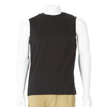 George Men's Sleeveless Muscle Tee Black L/G