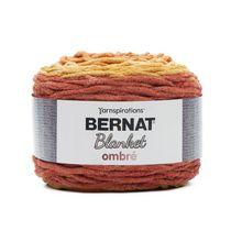 Bernat Blanket Ombre Yarn, Burgundy Ombre, 10.5oz(300g), Super Bulky , Polyester