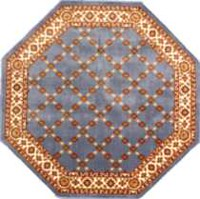 Epic Octagon Area Rug with Non-Slip Backing French Blue