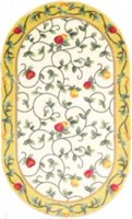 "Delight Area Rug with Non slip backing Yellow 3' 0"" x 5' 0"""