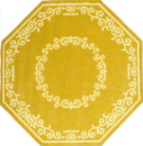 Aristo Area Rug with Non-Skid Backing Octagon 6' x 6'