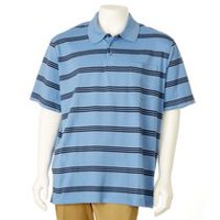 George Men's Patterned Polo Shirt Blue 2XL