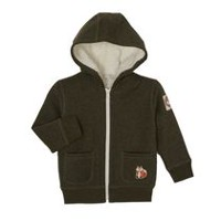George Toddler Boys' Sherpa Lined Hoody Green 3T