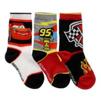 Cars Boys' 3-Pack Crew Socks 11-2