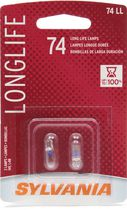 Sylvania Long Life 74 Automotive Miniature Bulb, 2 Pack