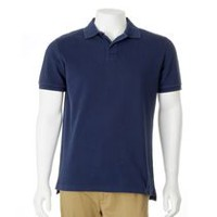 George Men's Cotton Polo Shirt Blue L