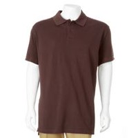 George Men's Plus Size Polo Burgundy 3XL