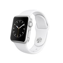 Apple Watch Sport 38mm Silver Aluminum Case with White Sport Band