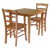 Winsome Groveland 3-Piece Dining Set, Square Table with 2 Chairs - 34330