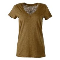 George Women's Fitted V-Neck Tee Green XL