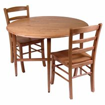 Winsome Hannah 3-Piece Dining Set, Drop Leaf Table with 2 Ladder Back Chairs - 34342