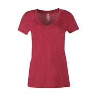 George Women's Fitted V-Neck Tee Red L