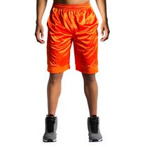 AND1 Men's All Court Basketball Shorts Red Orange X-Large