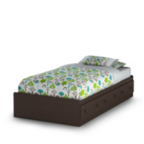 South Shore Savannah Collection Twin Mates Espresso Bed