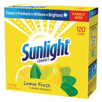 Sunlight Compact Lemon Fresh Laundry Detergent, 4.42 kg