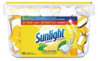Sunlight® +Oxi Action Lemon Fresh Dishwasher