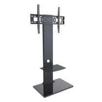 TygerClaw LCD84112BLK Double Layers TV Stand