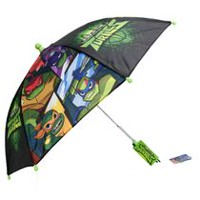 Parapluie manuel Teenage Mutant Ninja Turtles avec toile de 31 po