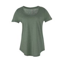 George Women's Scoop Neck Tee Four Leaf Clover XXL