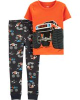 a288572d4a Child of Mine made by Carter s Toddler Boys  2-piece Pyjama - monster truck
