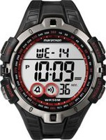 Marathon® By Timex® Gunmetal/Red Case and Black Resin Strap Digital Full-Size Watch