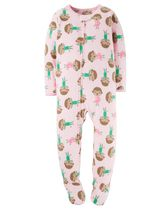 Child of Mine made by Carter's Infant Girls' 1-Piece Monkeys Fleece Sleeper Pyjamas 12M
