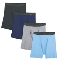 Fruit of the Loom Men's Fabric Waistband Boxer Briefs Pack of 4 XL/TG