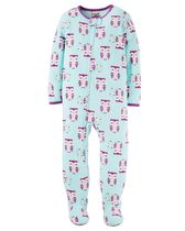 Child of Mine made by Carter's Infant Girls' 1-Piece Owls Fleece Sleeper Pyjamas 12M