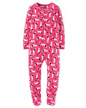 Child of Mine made by Carter's Infant Girls' 1-Piece Dogs Fleece Sleeper Pyjamas 12M