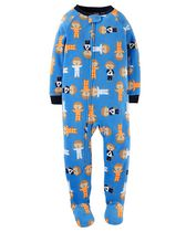 Child of Mine made by Carter's Infant Boys' 1-Piece Monkeys Fleece Sleeper Pyjamas 12M