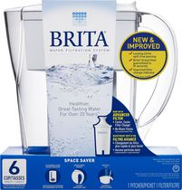 Brita® Space Saver Pitcher, White